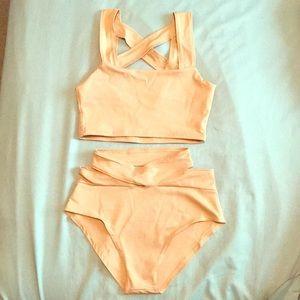 2 piece Criss Cross Swimsuit